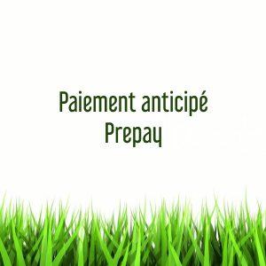 Paiement anticipé / Prepay
